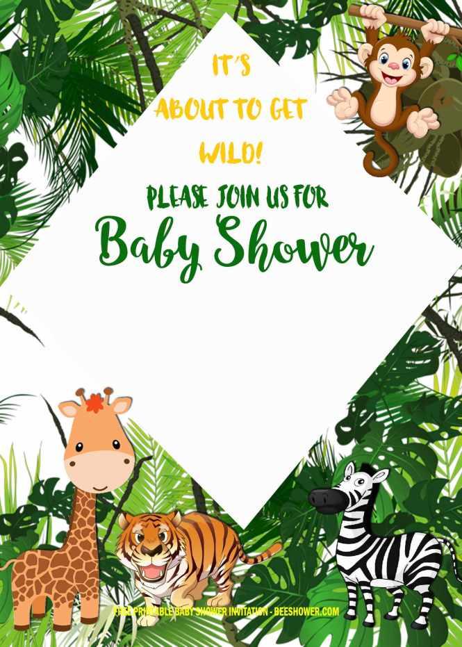 Safari Baby Shower Invitation Templates