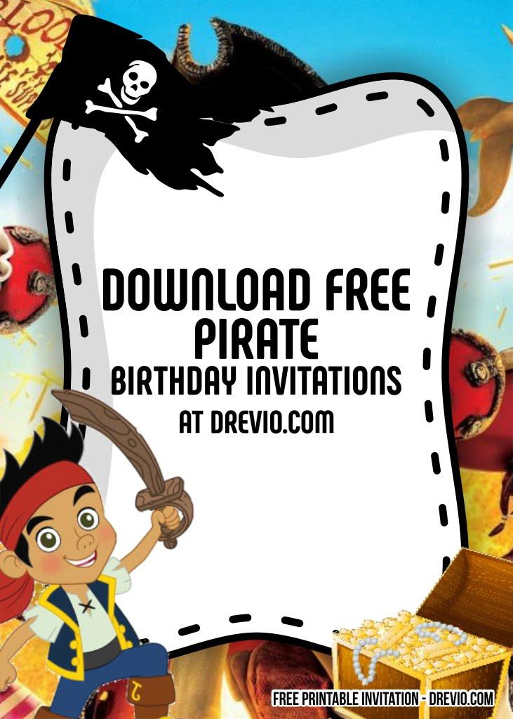 8 free pirate invitation templates