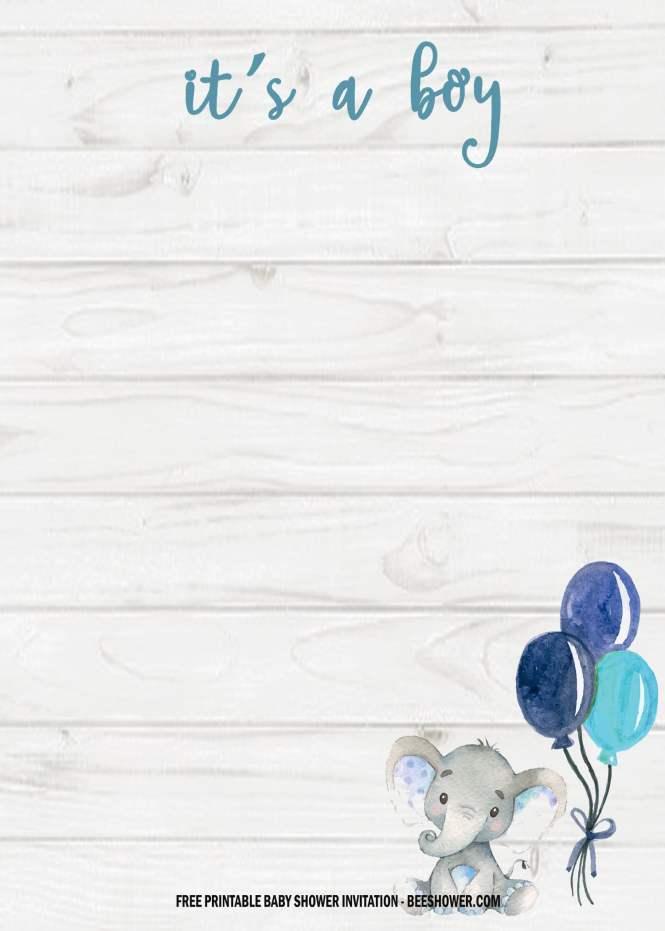 6 Free Blue Elephant Themed Birthday