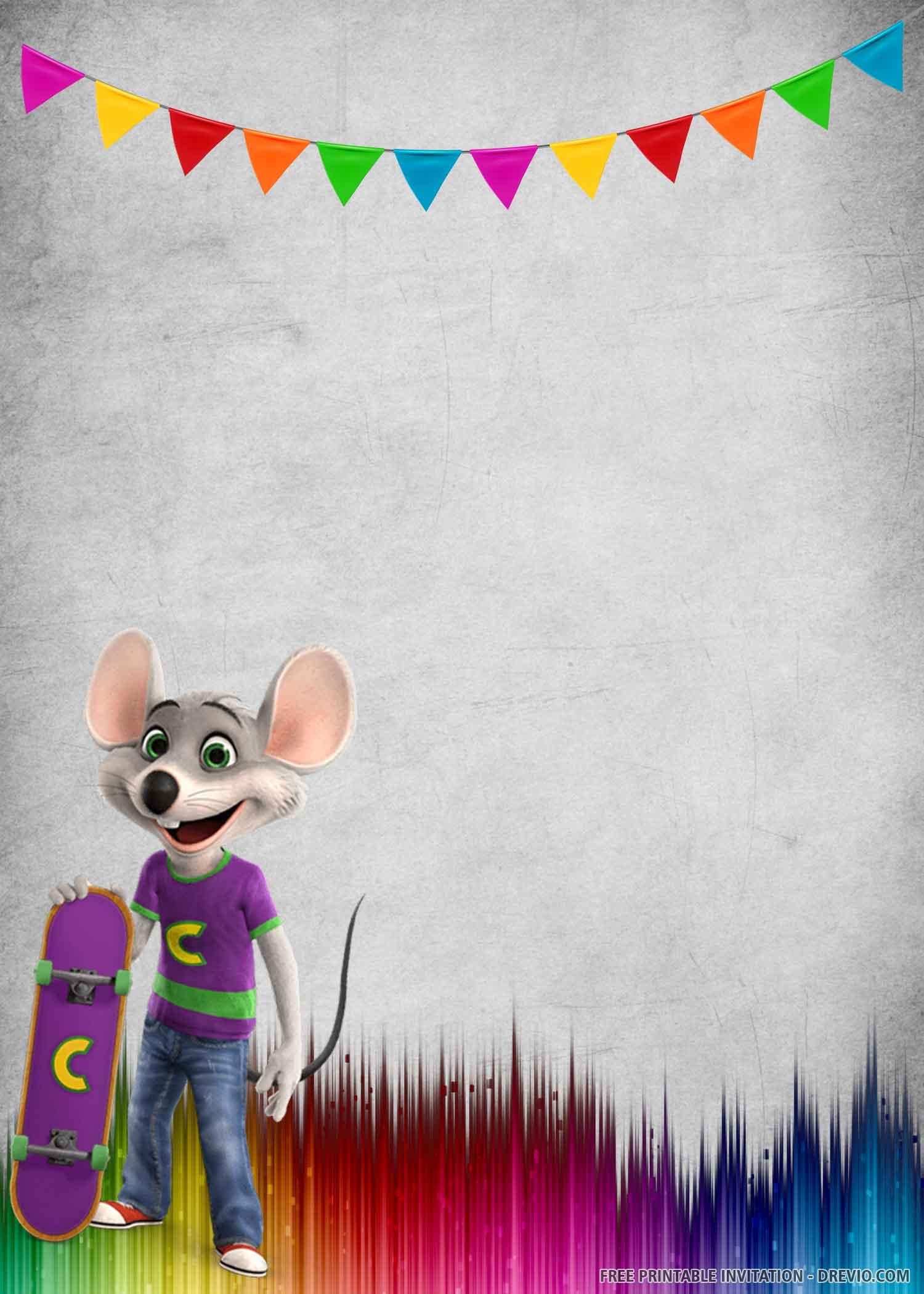 Free Printable Chuck E Cheese Birthday Invitation Template Download Hundreds Free Printable Birthday Invitation Templates