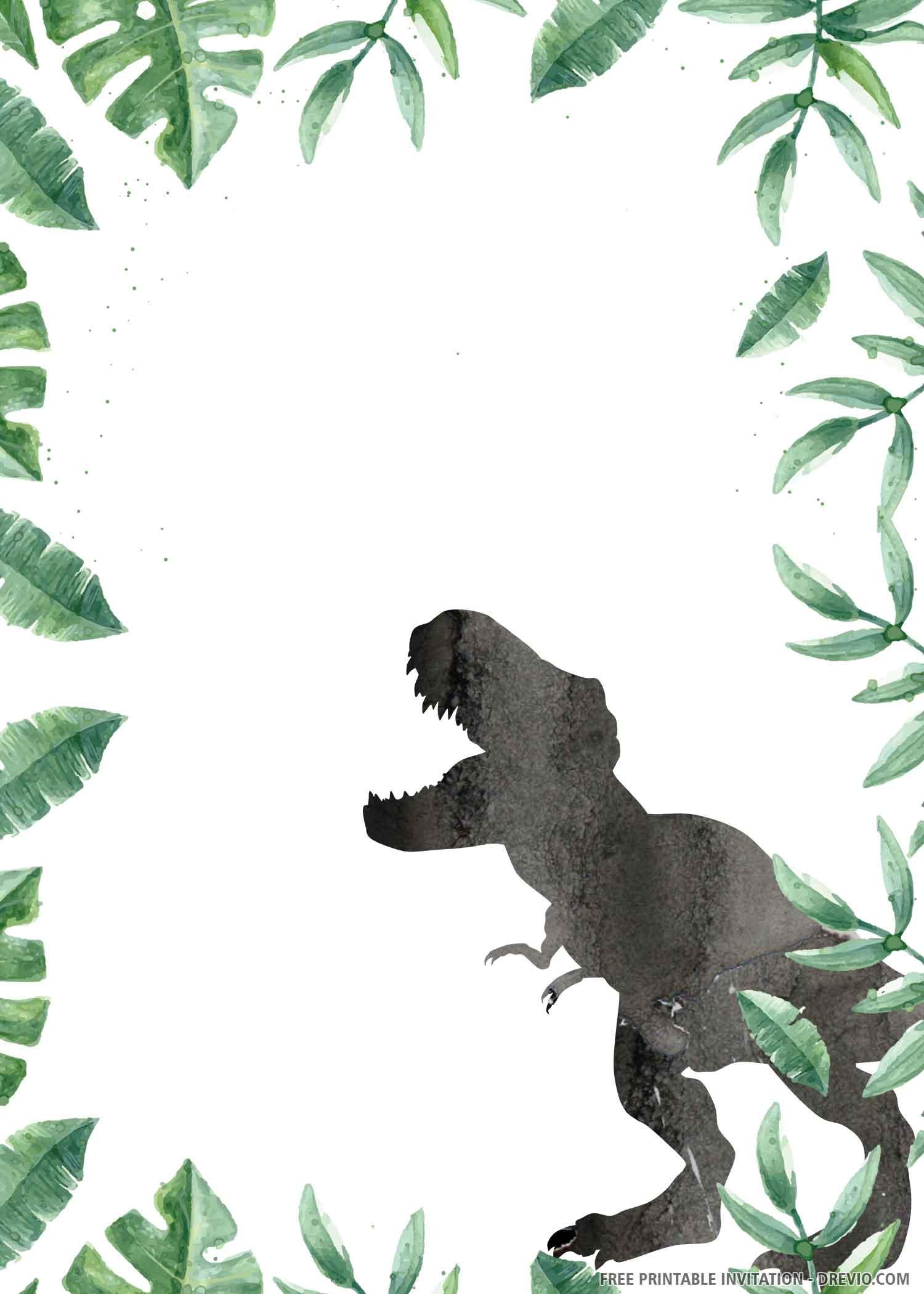 Free Printable Wild Dinosaur Birthday Invitation Template Download Hundreds Free Printable Birthday Invitation Templates
