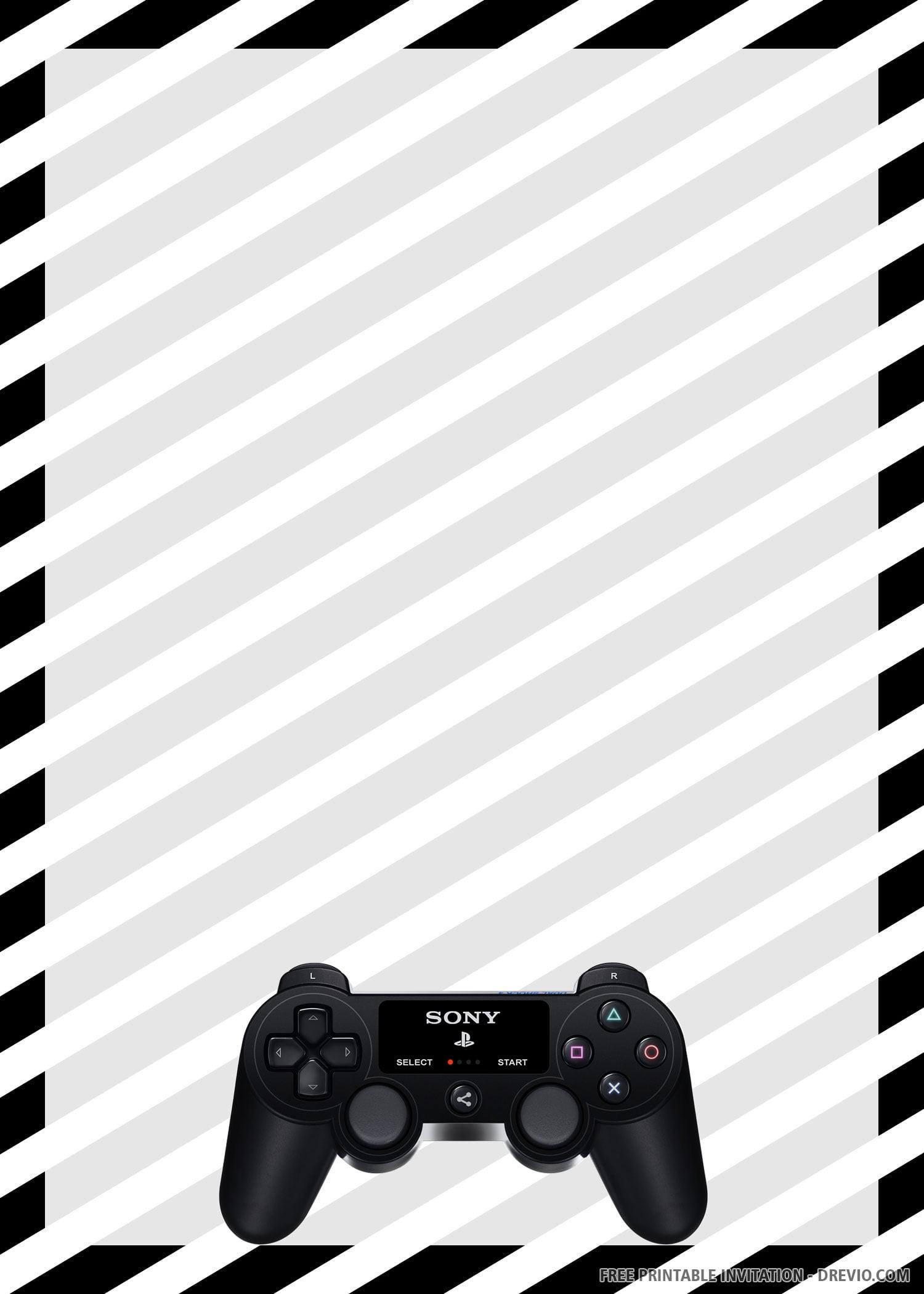 free printable gamer invitation