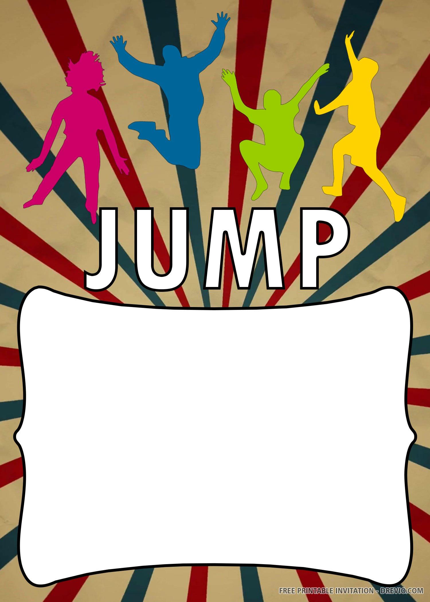 Free Printable Jump Happily Invitation Templates Download Hundreds Free Printable Birthday Invitation Templates