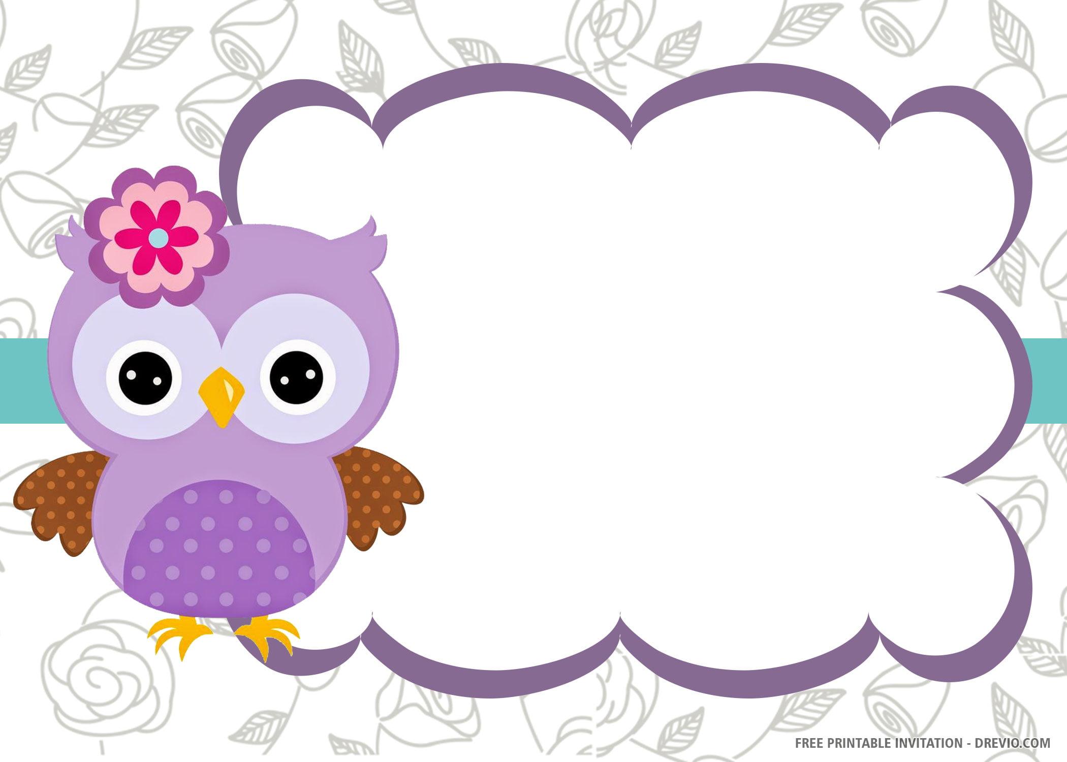 Free Printable Owl Invitation Templates