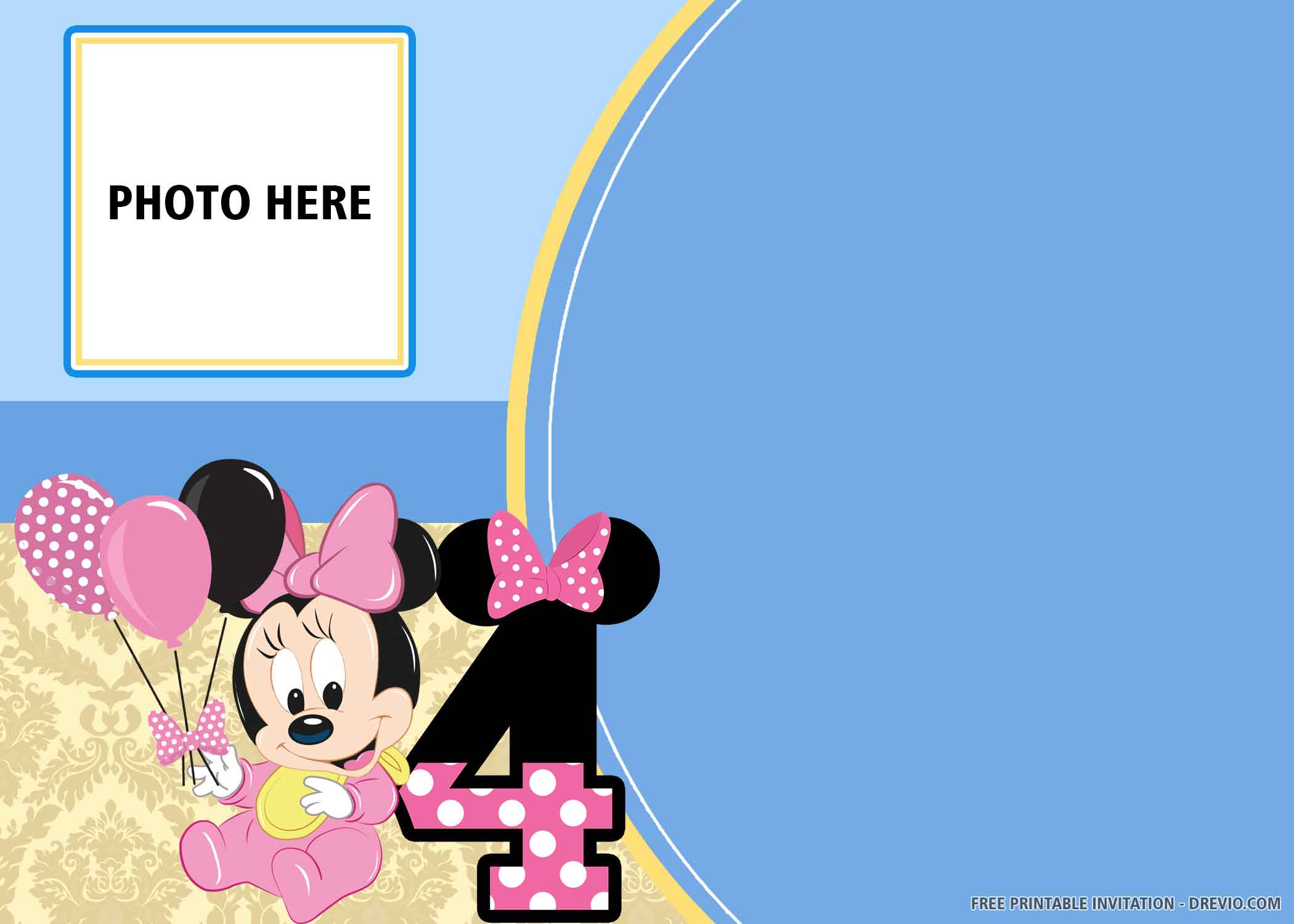 blue mickey and minnie mouse birthday