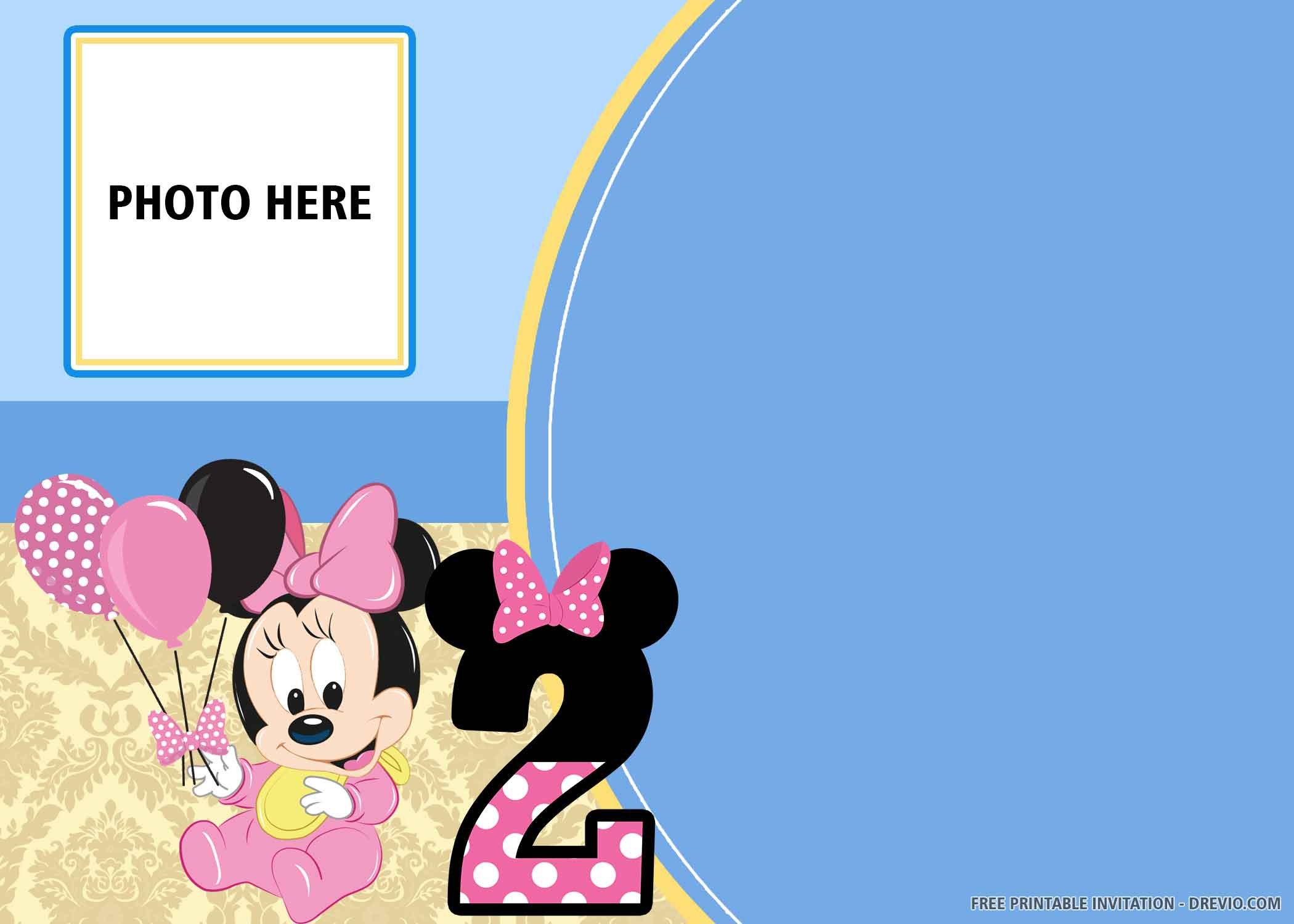 Free Printable Blue Mickey And Minnie Mouse Birthday