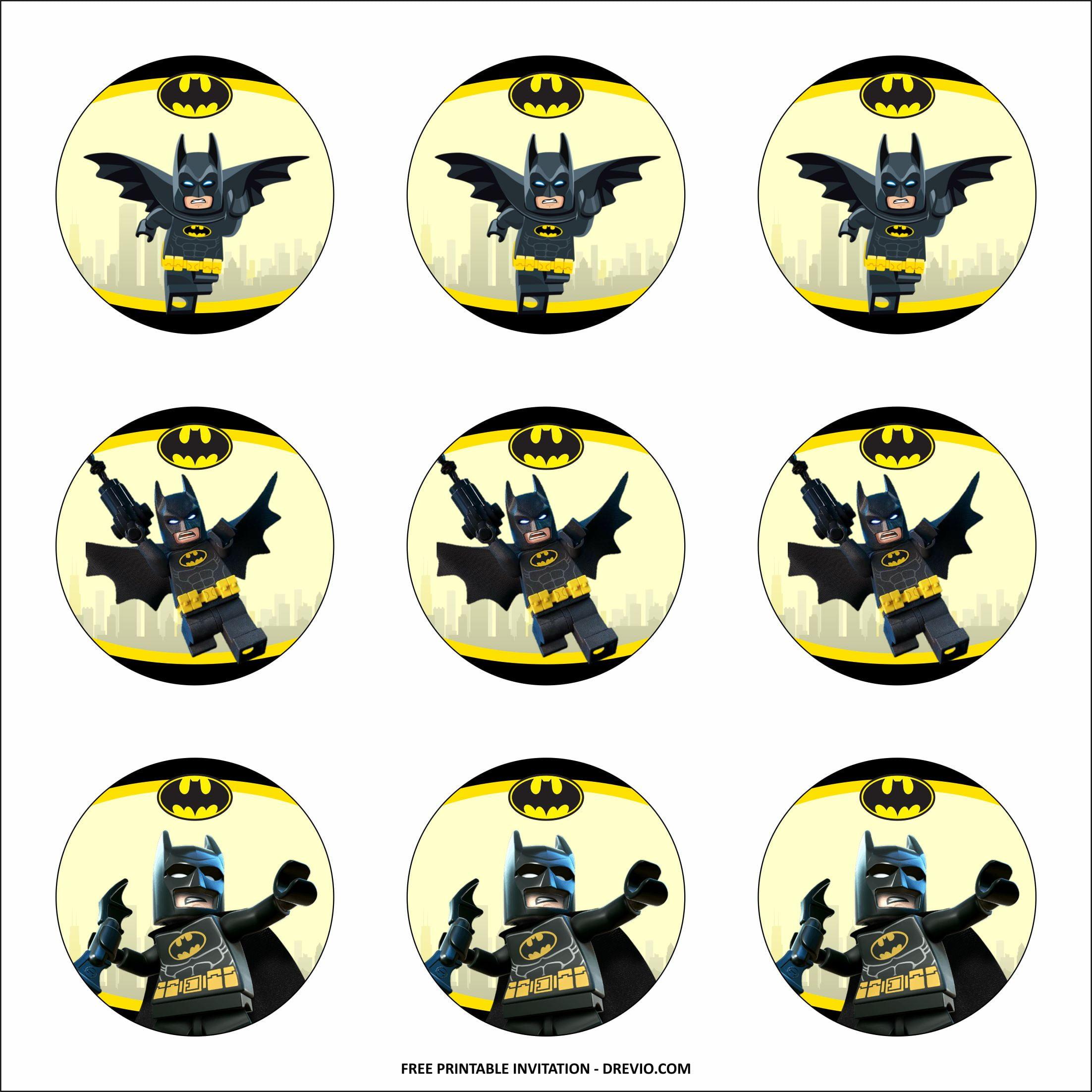 lego batman cupcake toppers templates