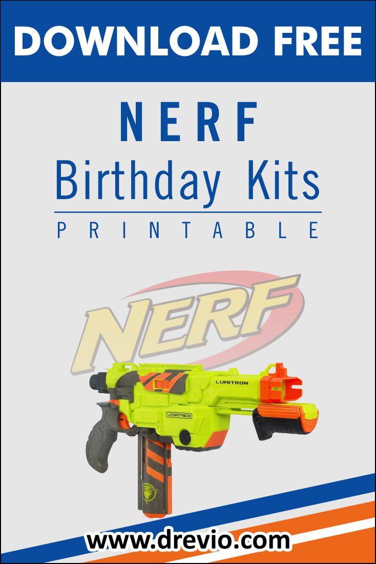 free printable nerf birthday party