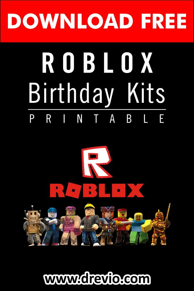 free printable roblox birthday party