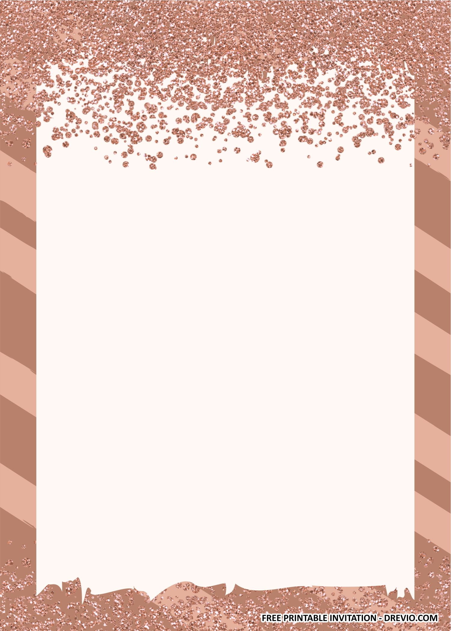 rose gold confetti birthday party kits