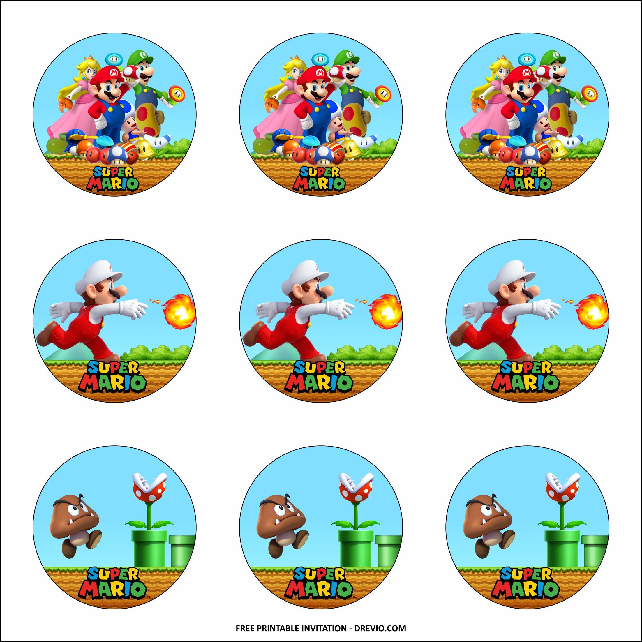 Free Printable Super Mario Themed Birthday Party Kits Template Download Hundreds Free Printable Birthday Invitation Templates