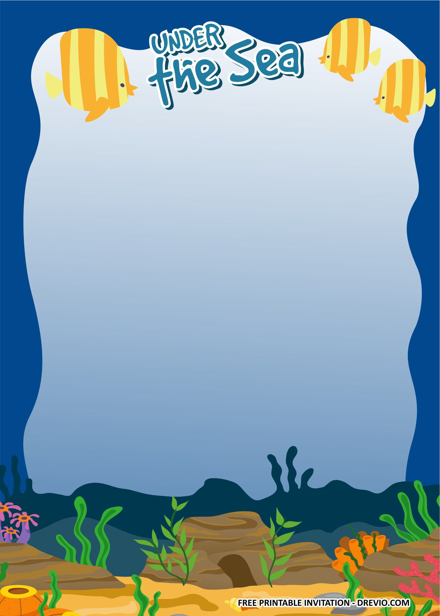 under the sea invitation templates 2