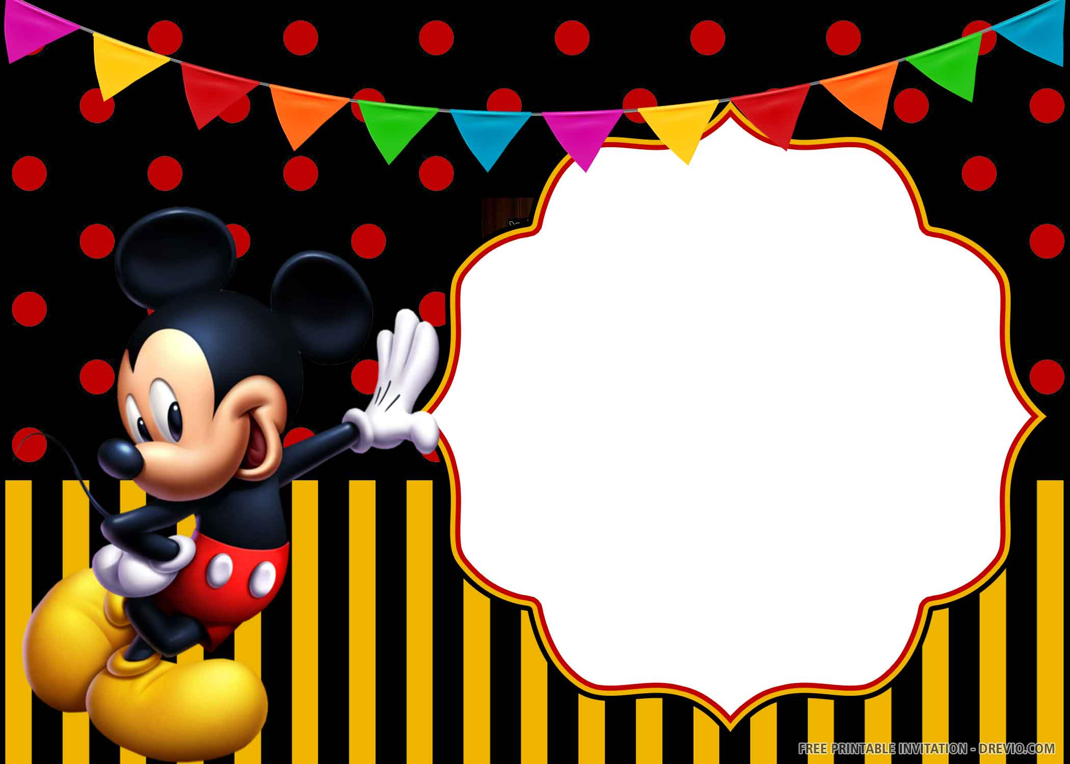 Free Printable Cheerful Mickey Mouse Birthday Invitation Templates Download Hundreds Free Printable Birthday Invitation Templates