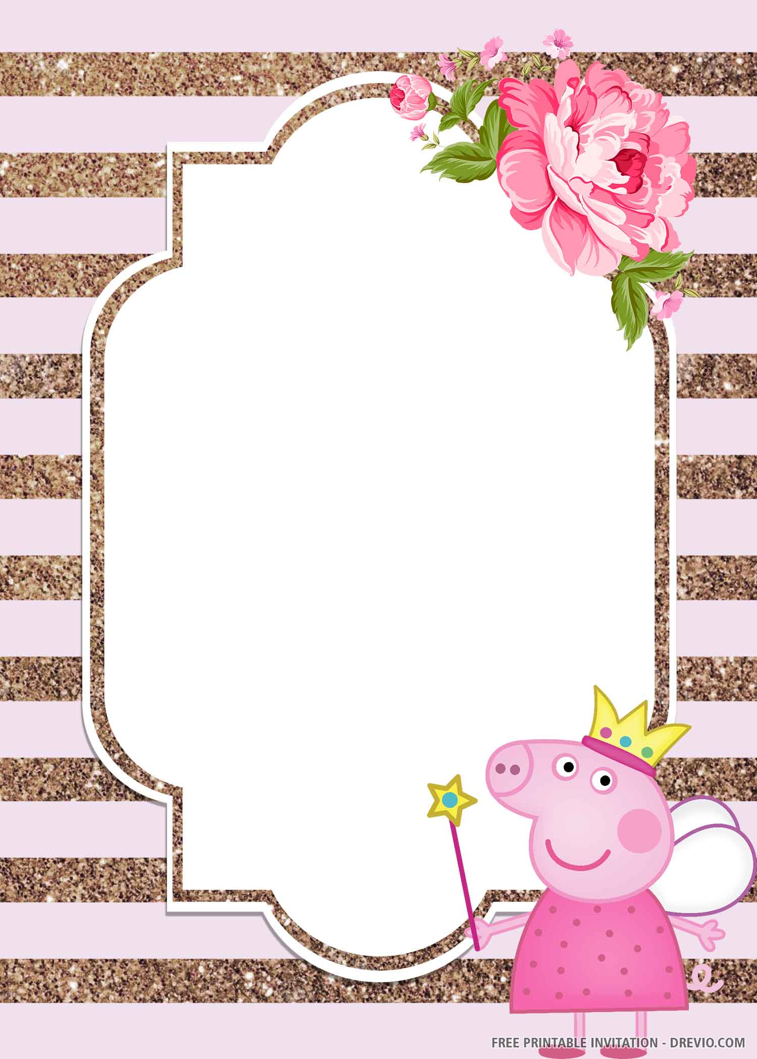 peppa pig birthday invitation templates