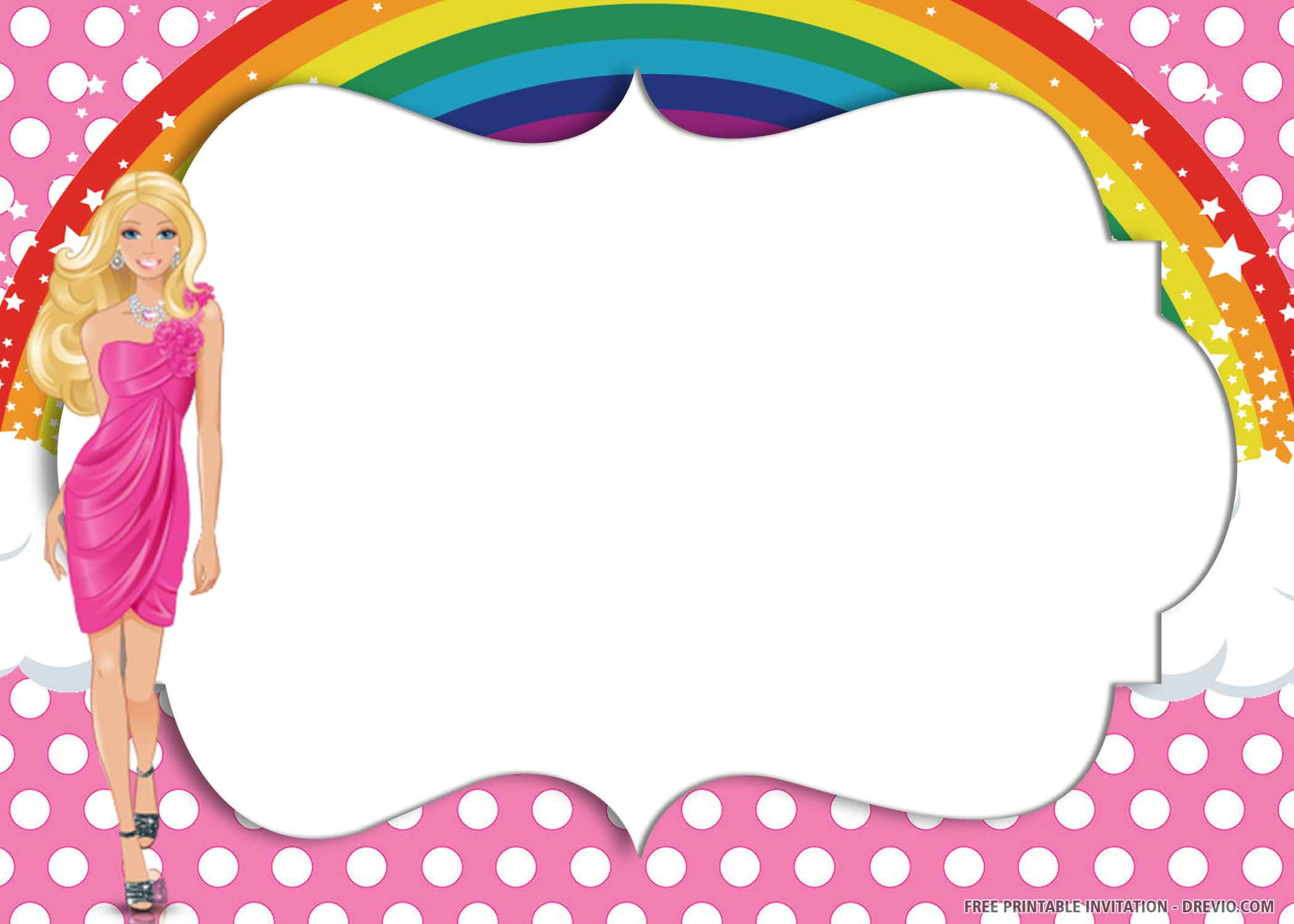 free printable pink rainbow birthday