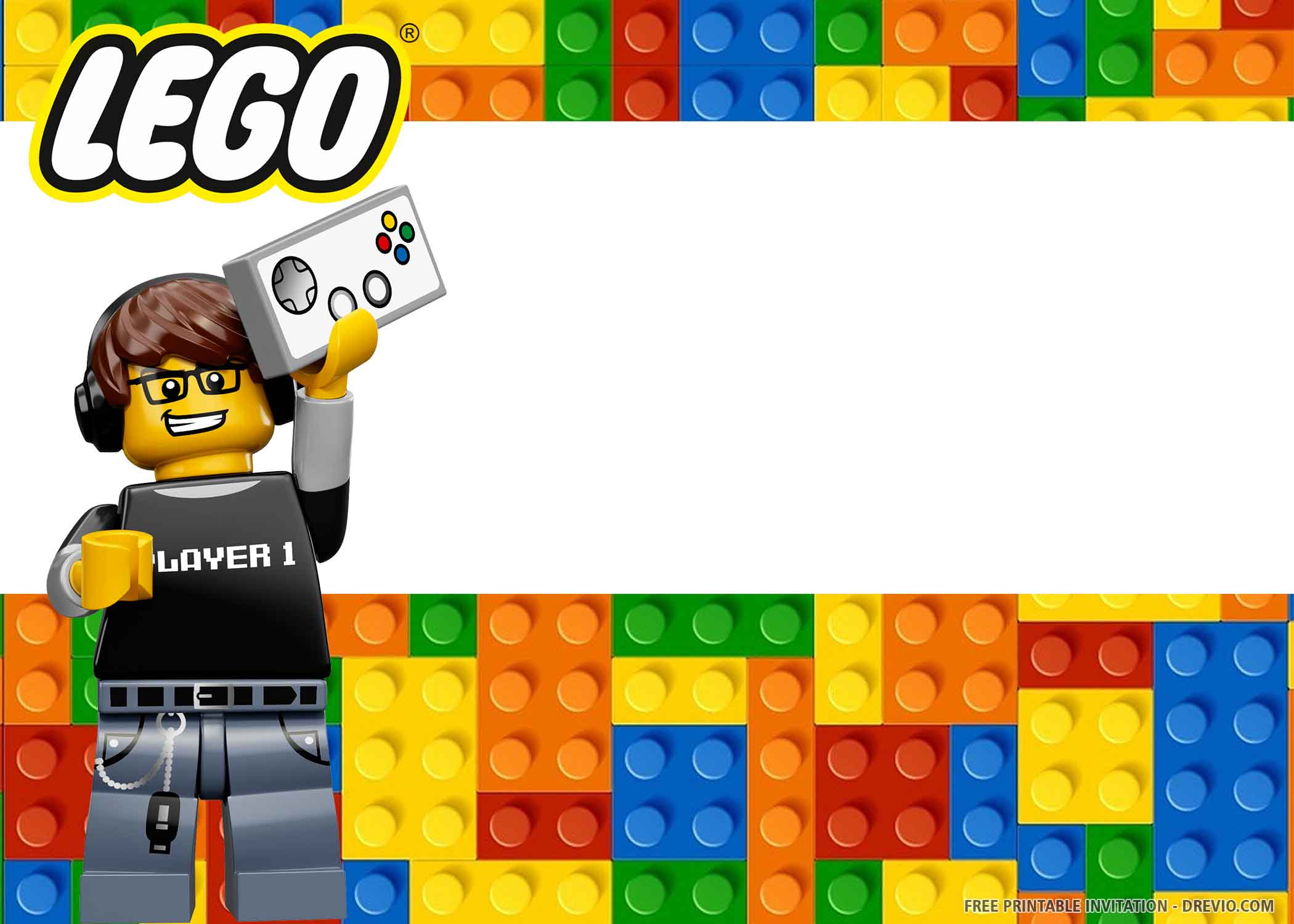 lego birthday invitation templates