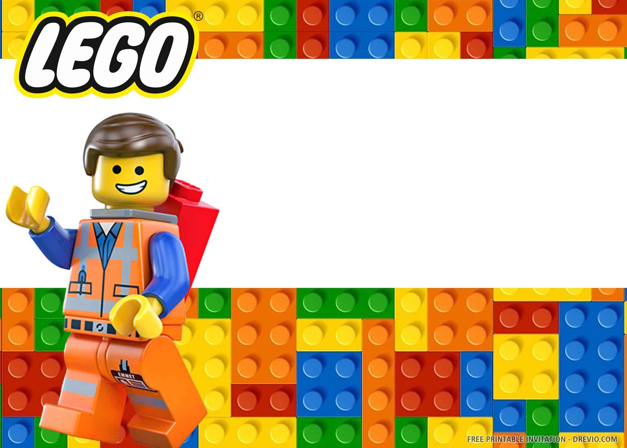 lego birthday invitation templates