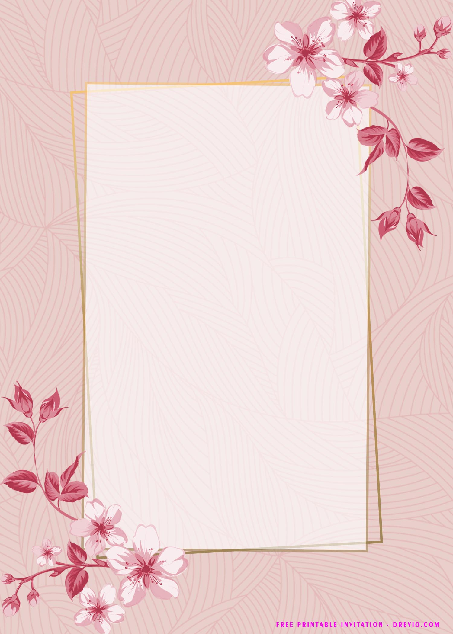 36 floral invitation templates for
