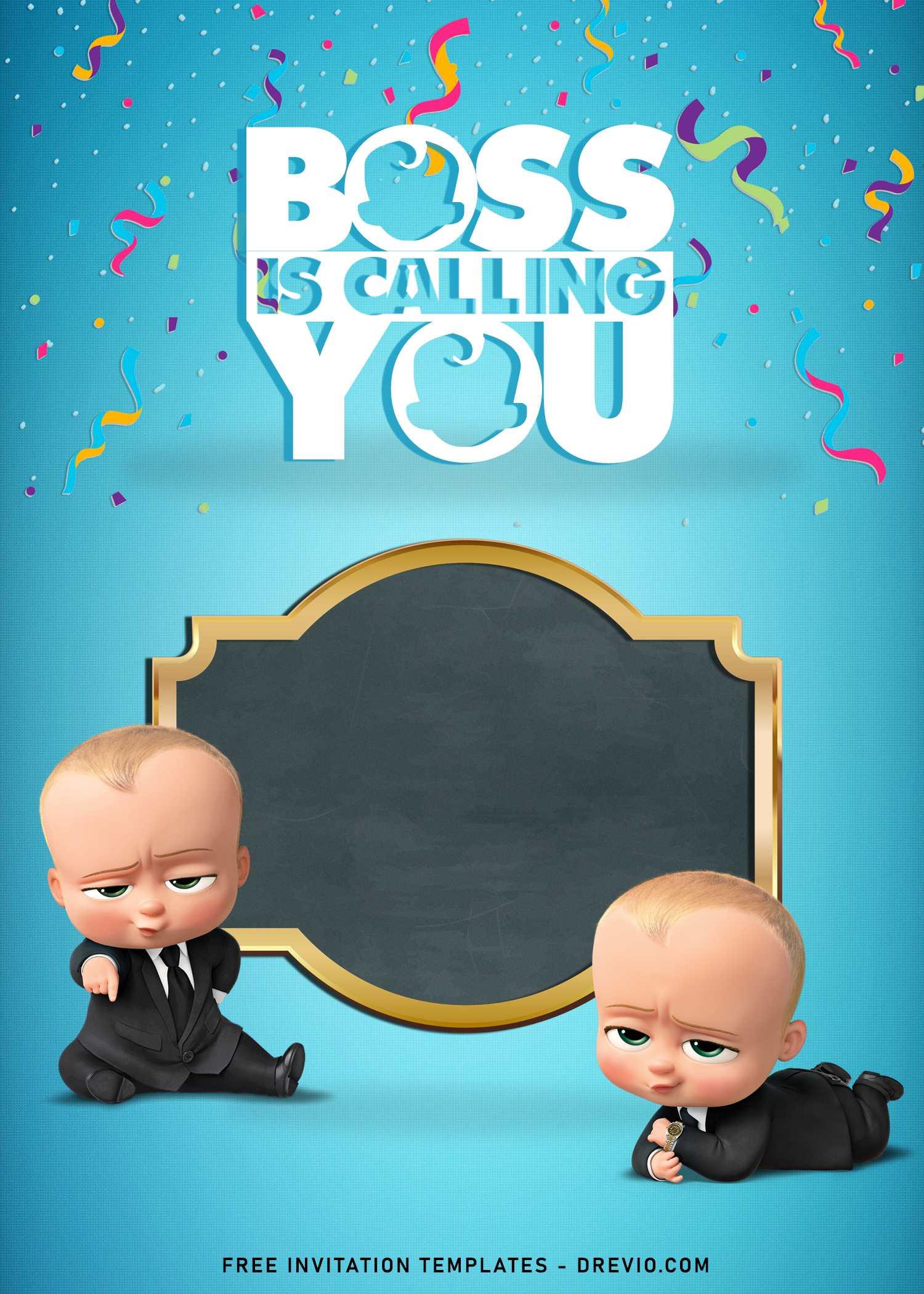 boss baby birthday invitation templates