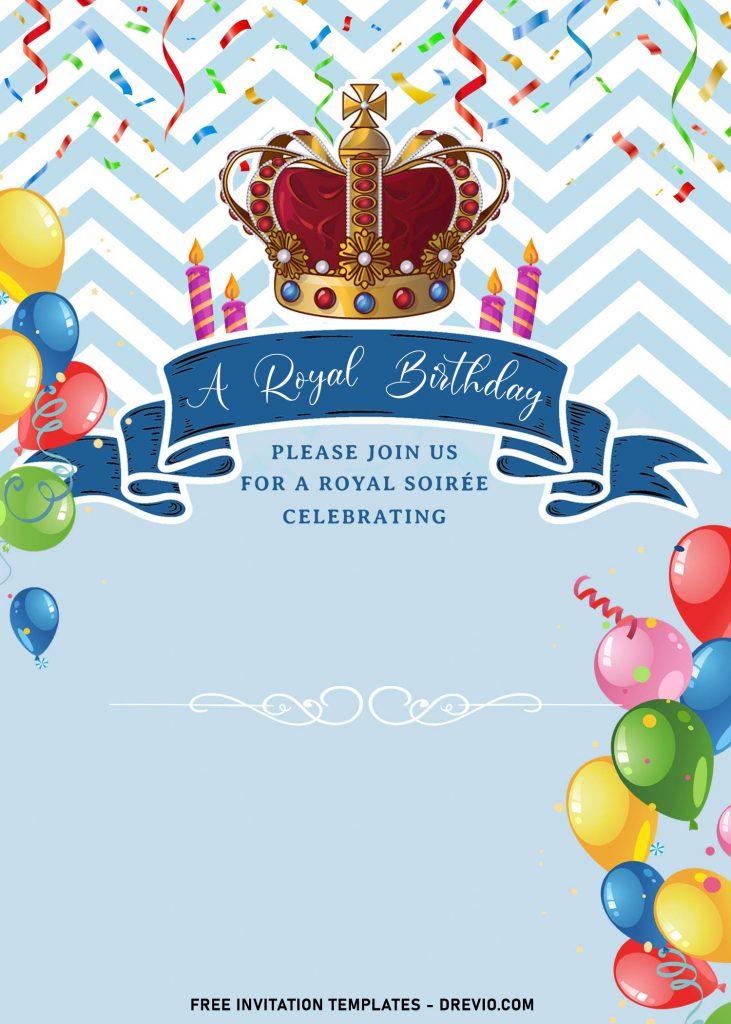 8 royal birthday invitation templates