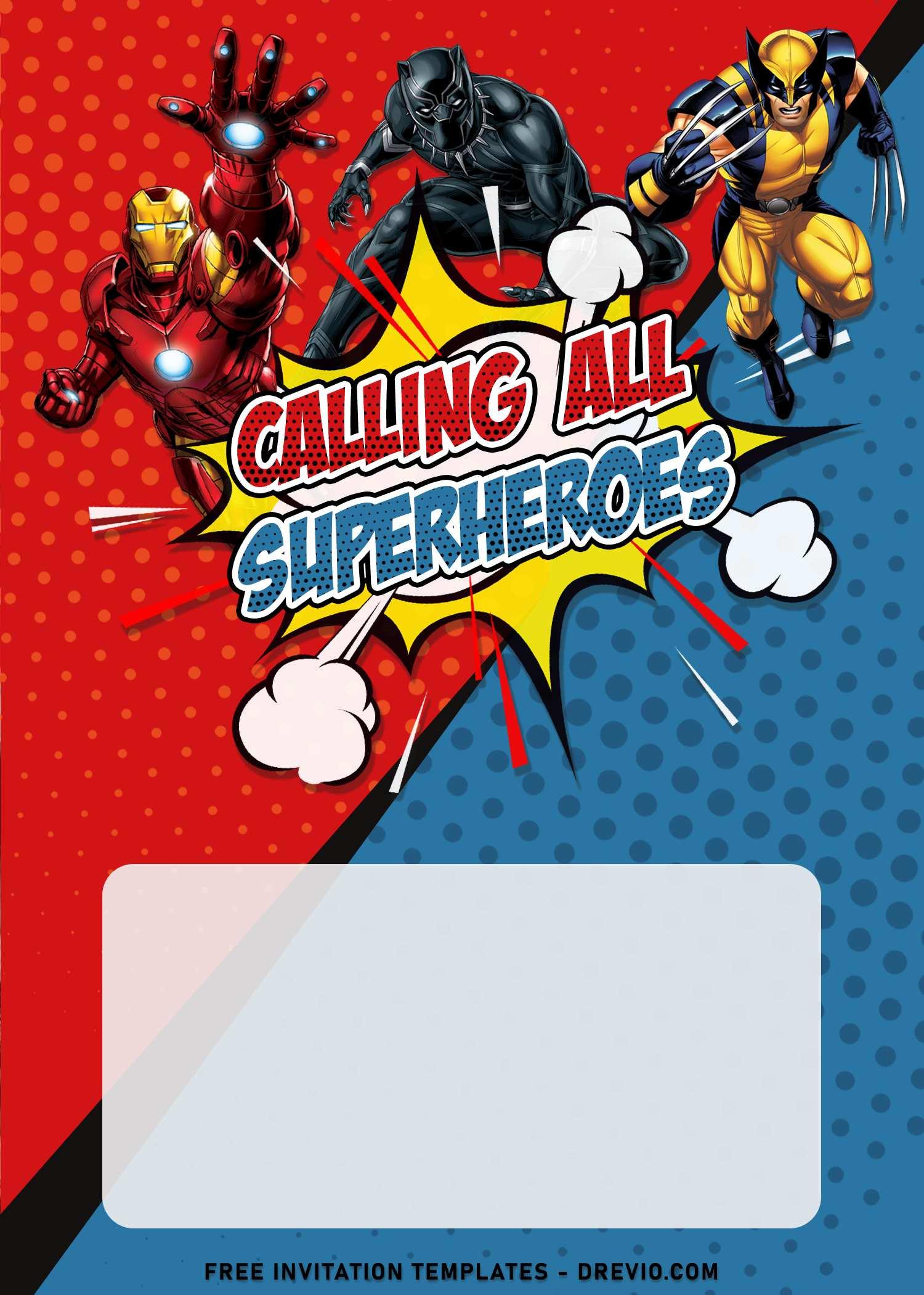 8 comic avengers superhero birthday