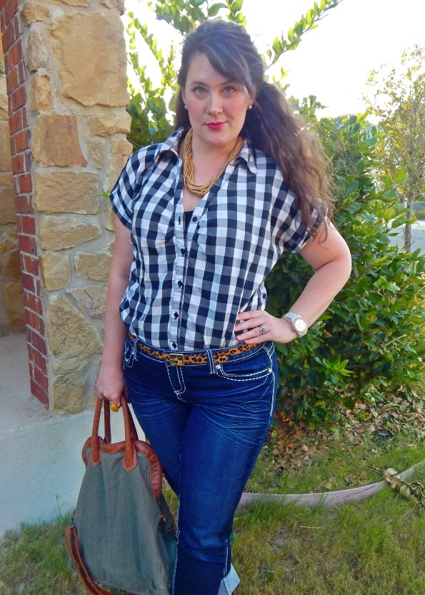 Gingham Blouse with Maurices Denim