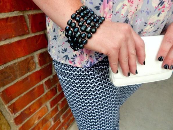 Pearl Necklace Bracelet Charming Charlie Wristlet