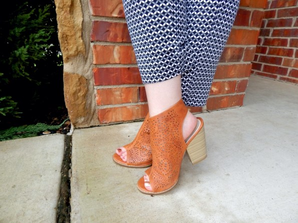 Target Slim Pants Nature Breeze Peep Toe Booties