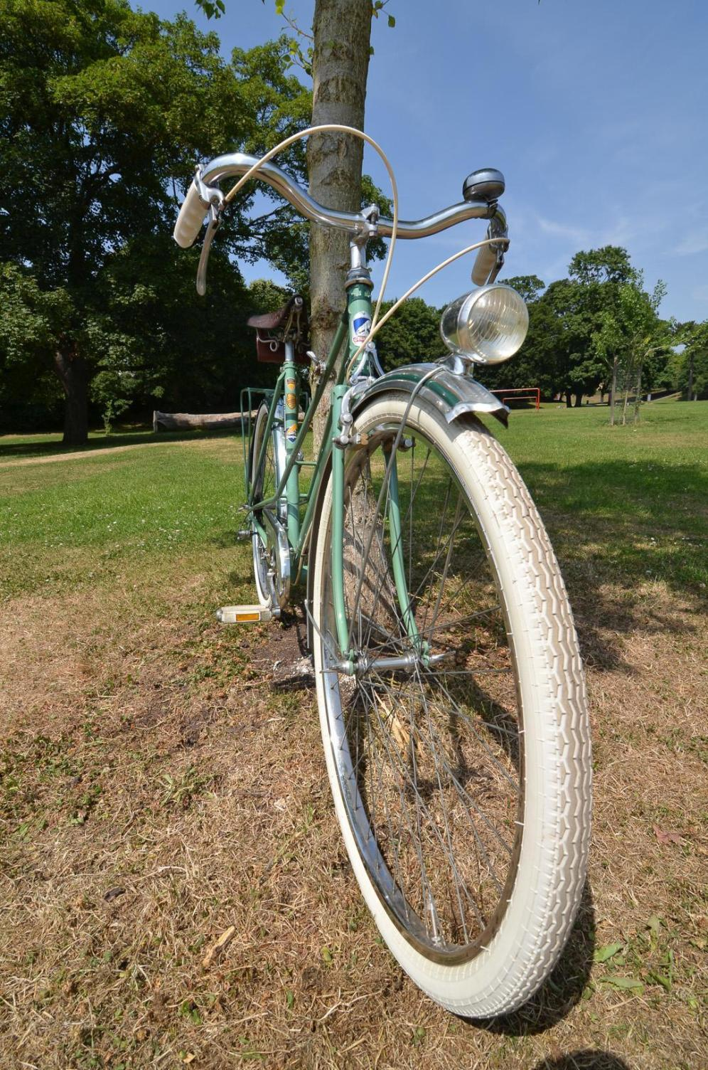 1950's Vintage Peugeot Bicycle Front wide angle view