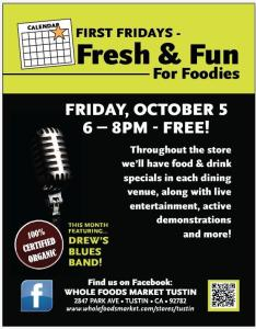 First Friday Foodie Funfest, featuring Drew's Blues Band