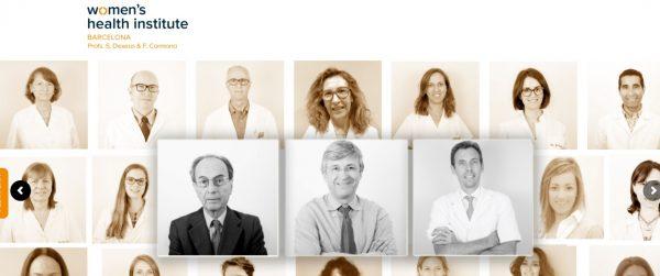Equipo médico de la Clínica de la mujer Womens-