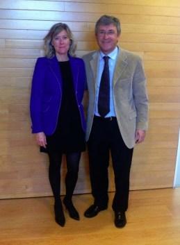 Dr. Francisco Carmona y Belén Pajares del grupo del PP del Ayuntamiento de Barcelona