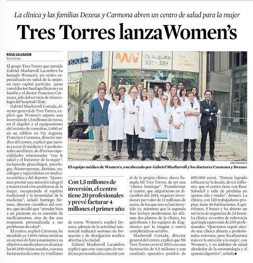 La Clínica Tres Torres lanza Womens