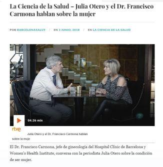 2018-06-03. RTVE . La Ciencia de la Salud. La condición de ser mujer