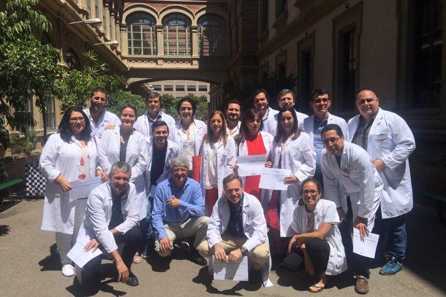 Preceptorship con 20 médicos de Sudamérica México a Argentina en el Hospital Clinic sobre Sangrado Uterino Anormal