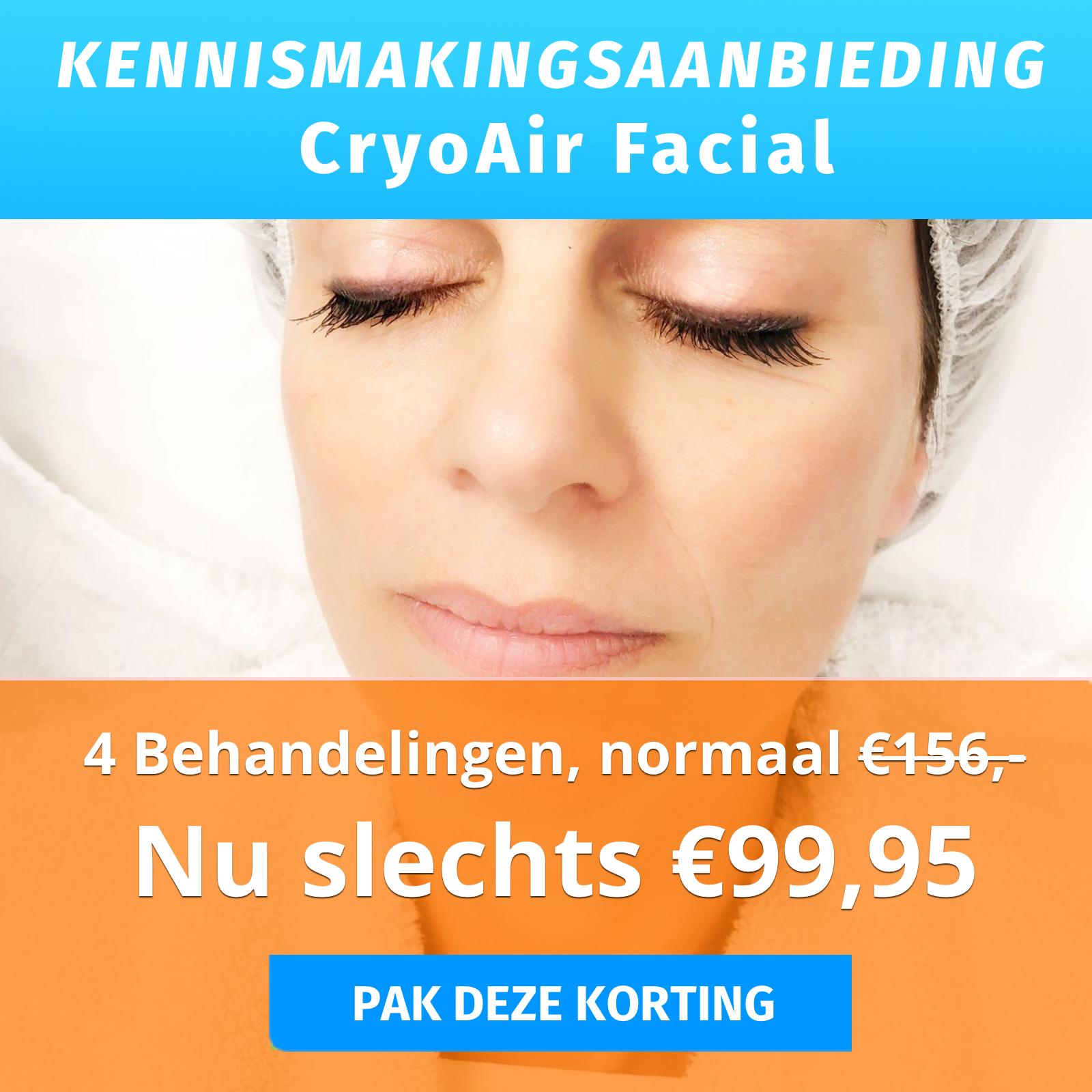 Dr.Freeze aanbieding 4 x CryoAir Face gezichtsbehandeling