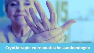 pijn bij reuma, cryotherapie helpt