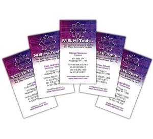 drgli ms hi tech business card design print work