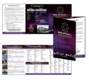 drgli ms hi tech line card design print work