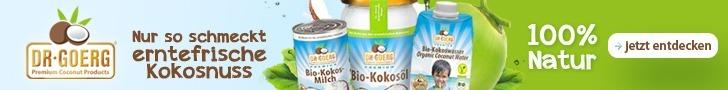 Nur so schmeckt erntefrische Kokosnuss - Dr.Goerg