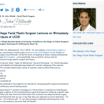 facial plastic surgeon in San Diego, lecture at UCSD Medical Center, rhinoplasty, Dr. Hilinski, plastic surgery