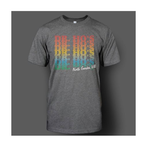 T-shirt: Charcoal Rainbow