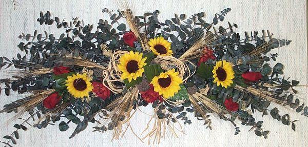 SunflowersSunflower And Roses Eucalyptus Swag