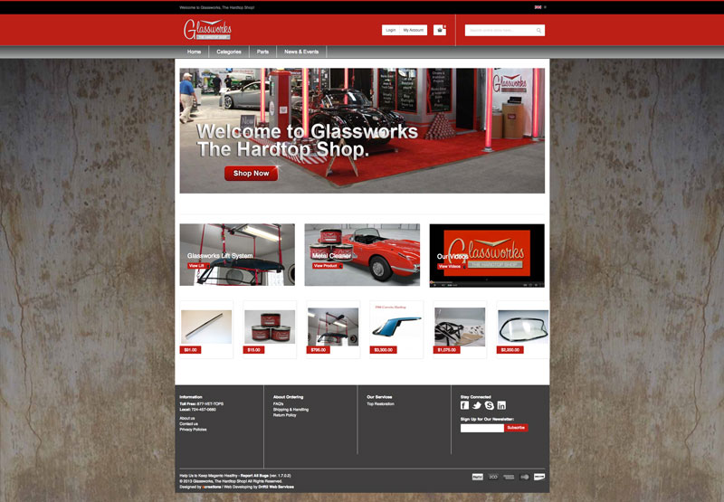 Glass Works The Hard Top Shop – Ecommerce Site