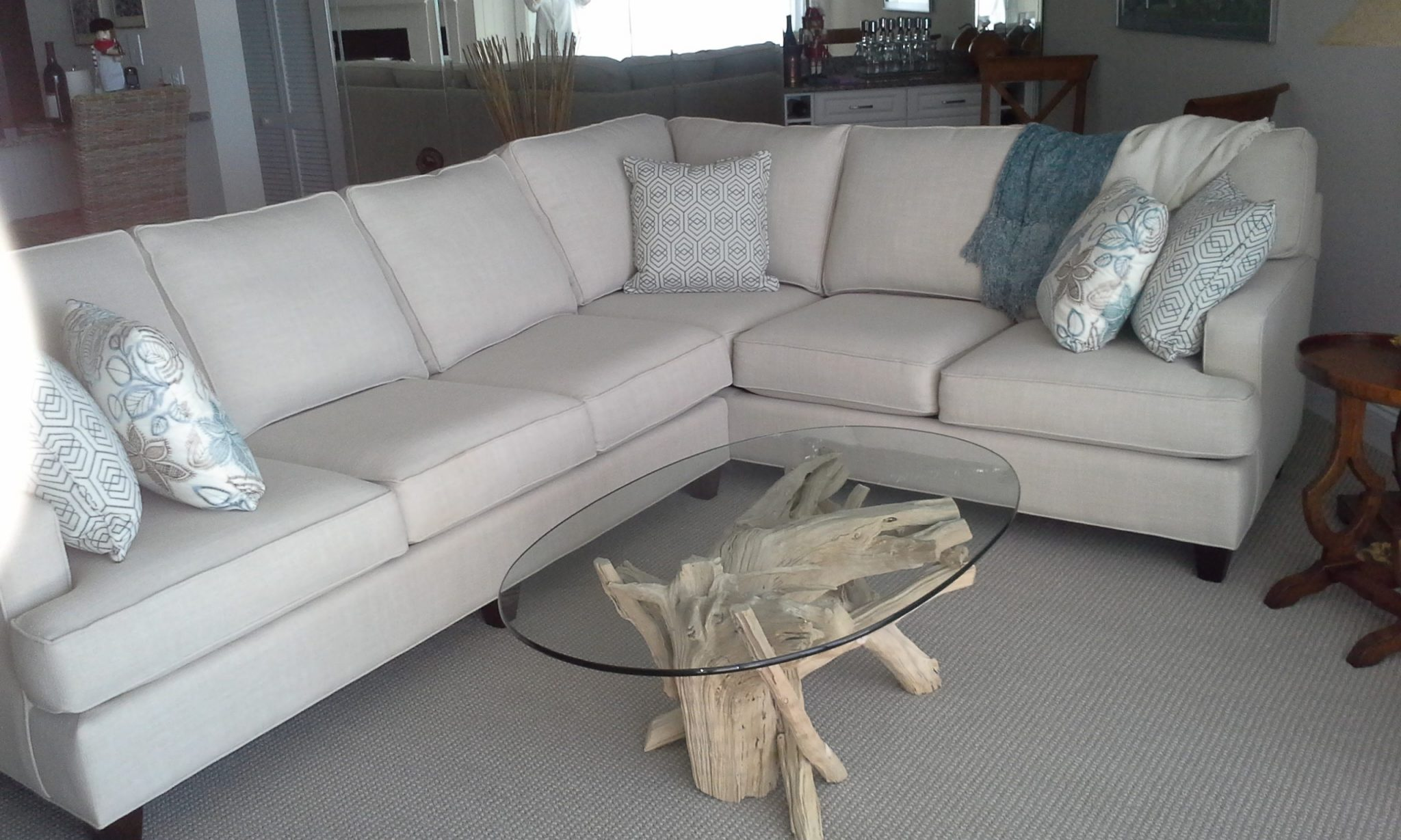 A driftwood coffee table of a different color