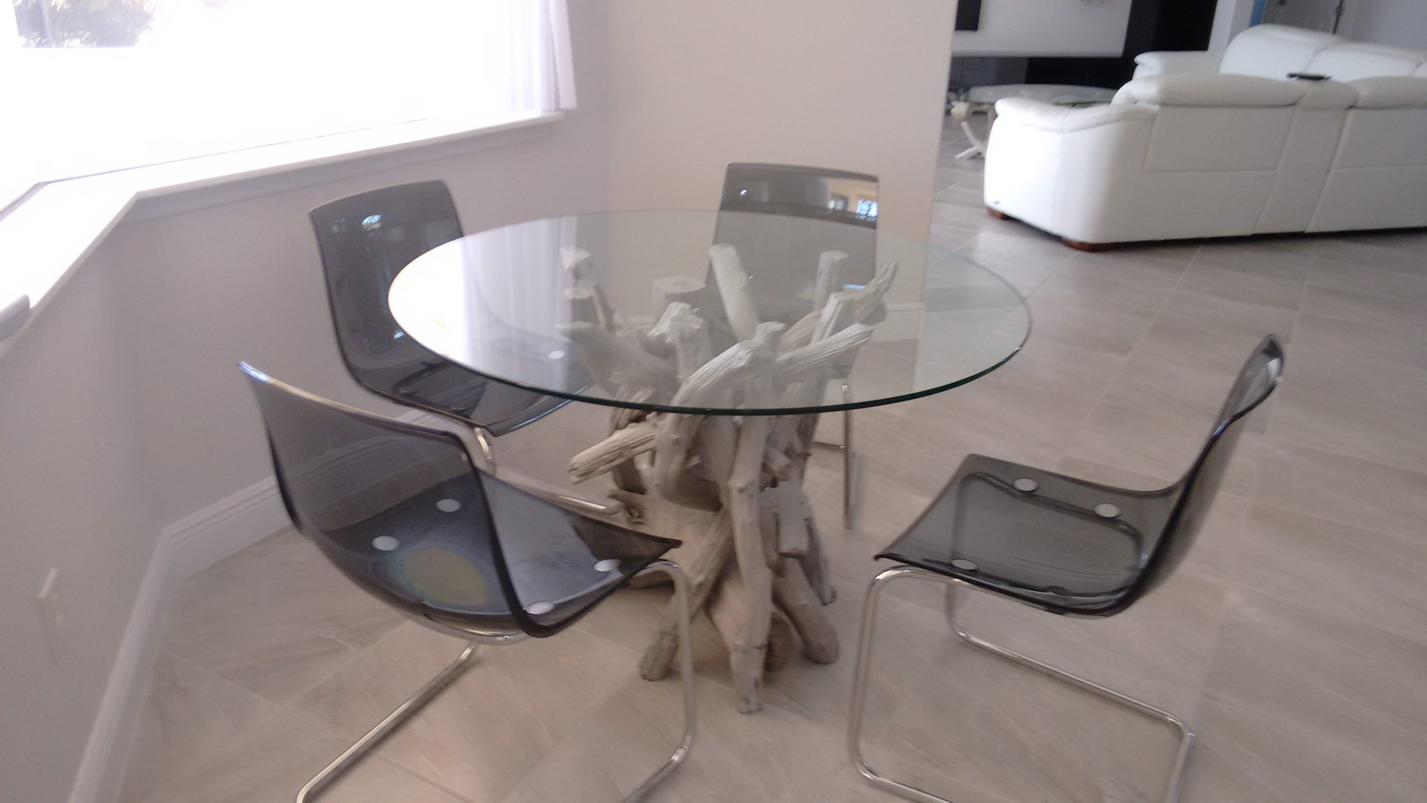 A driftwood dining table for Tony