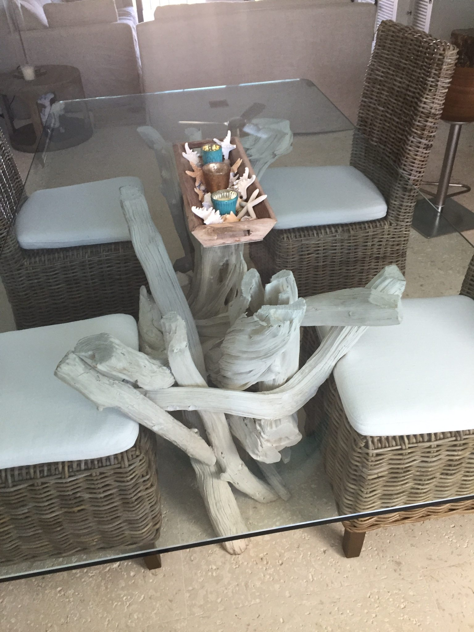 Some driftwood tables find a new home