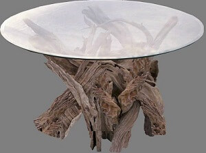 driftwood coffee table and driftwood