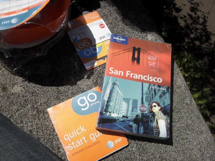 San Francisco Lonely Planet Guide that we used to find the sites of San Fran