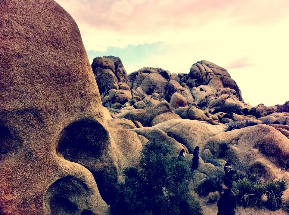 The strange rocks at Joshua Tree National Park